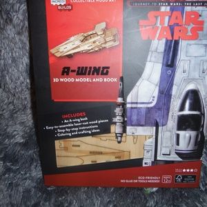 A-WING 3D WOOD MODEL AND BOOK